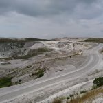 The workings at Lee Moor quarry