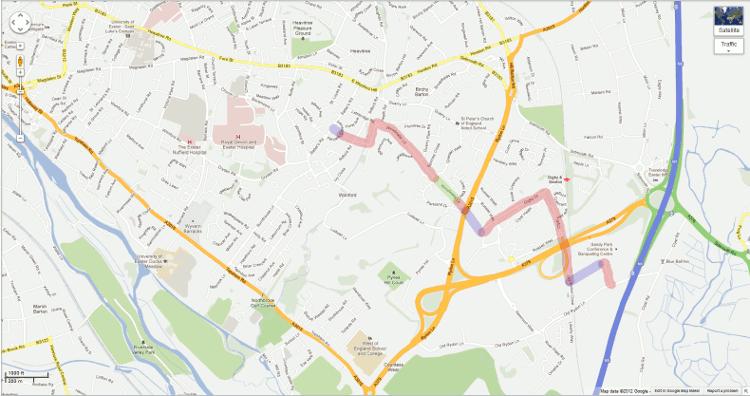 2012 Google Map - Woodwater Lane