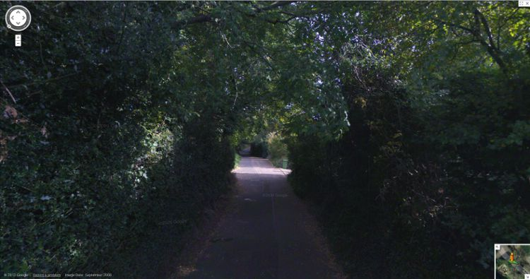 2012 Google Streetview - Woodwater Lane