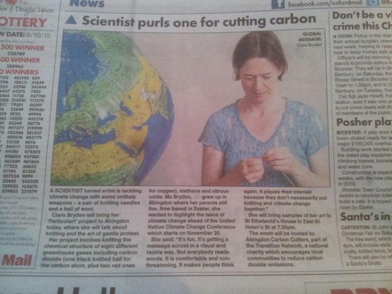 Particulart in Oxford Mail