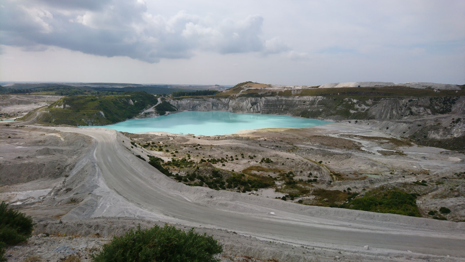 China clay lake at Lee Moor quarry