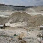 Washing out the kaolin, Headon & Hemerdon quarries