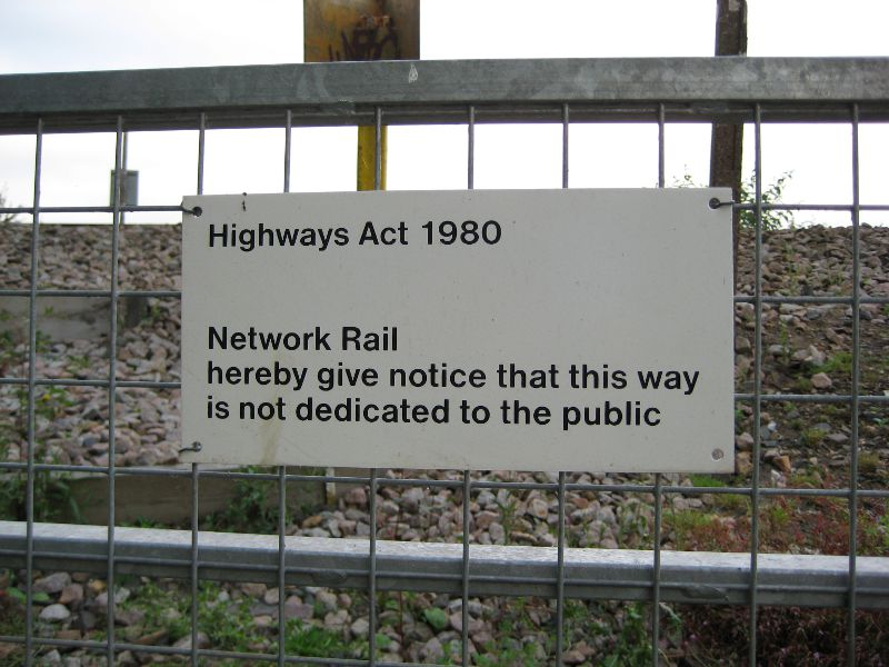 Network Rail sign on Woodwater wander