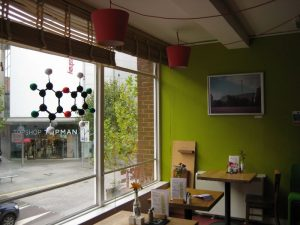 Particulart dioxin and photo by Ben Borley in Real Food cafe