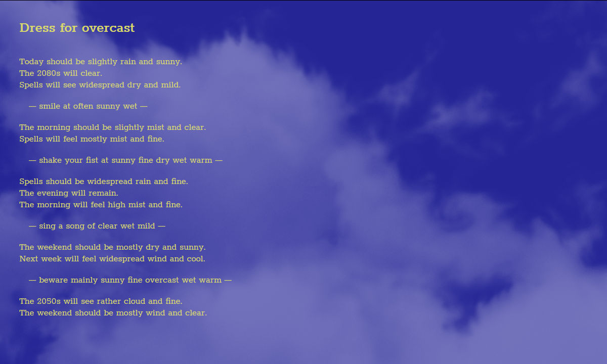 generative weather forecast poetry