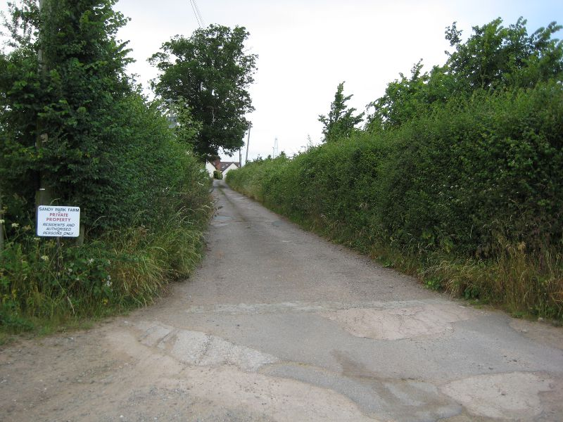 Farm lane on Woodwater wander