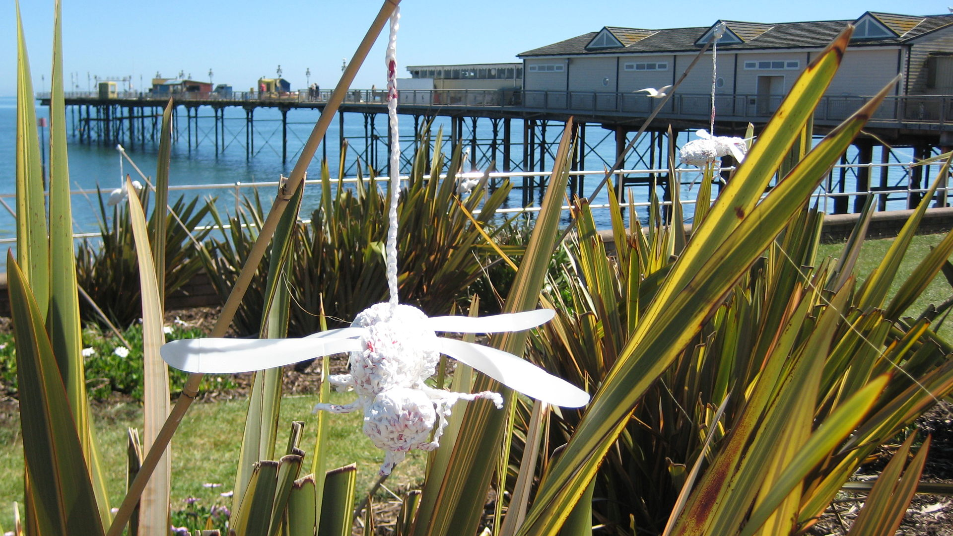 Ghost Bees at Teignmouth Recycled Art in the Landscape