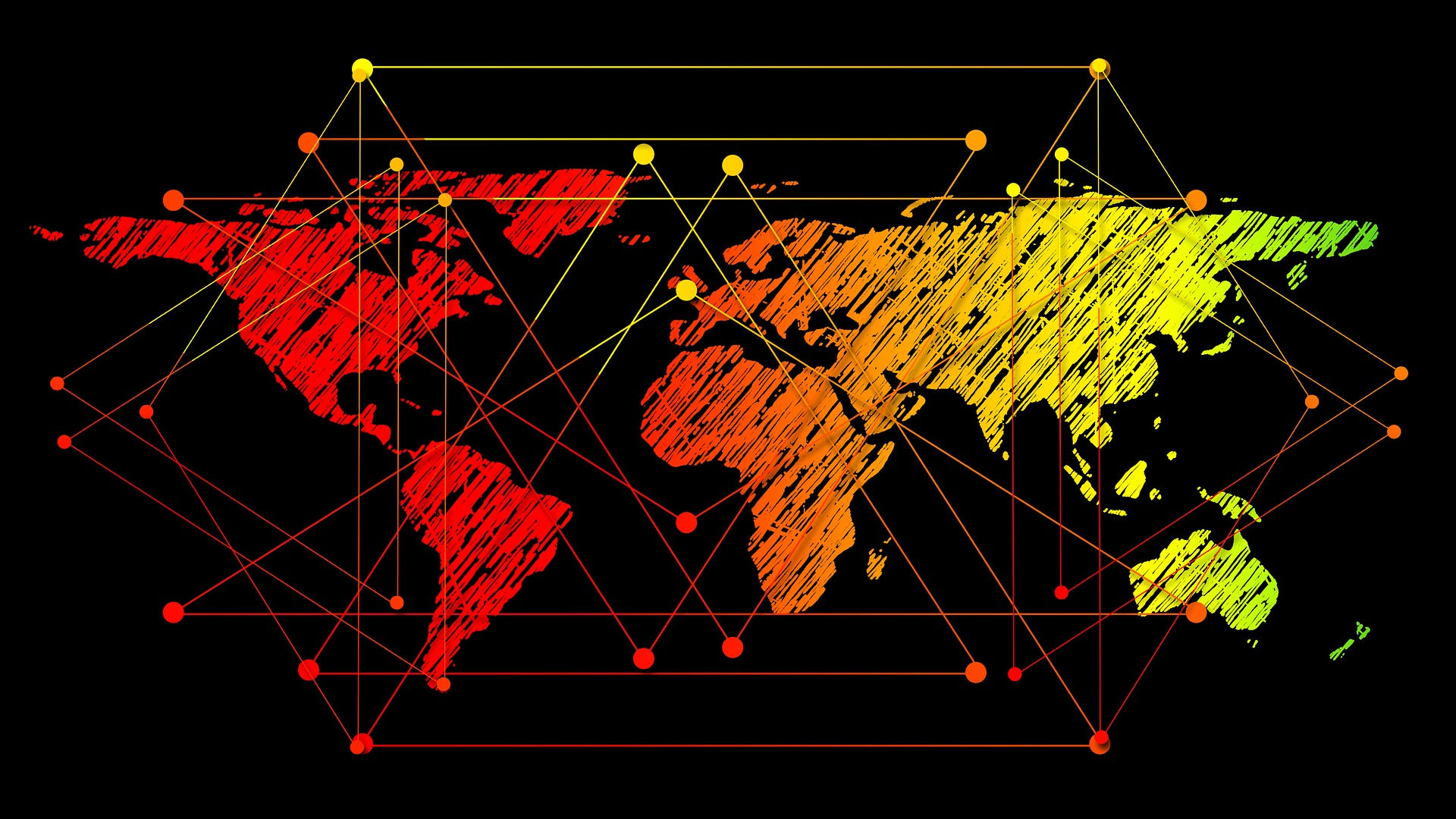 Global graphical web. Photo credit: geralt, Pixabay.