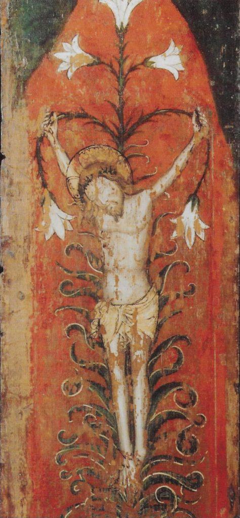 Lily crucifix, St Helen's Abingdon