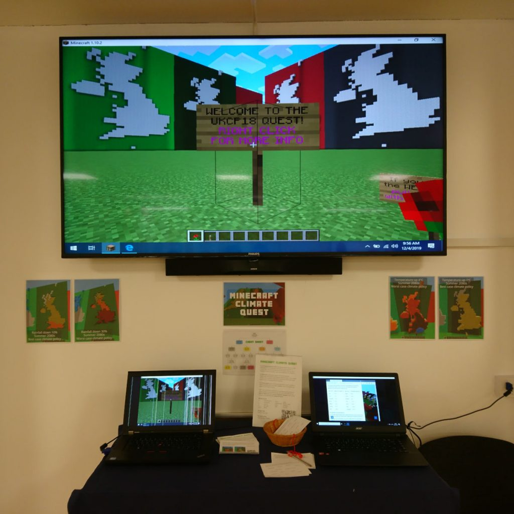 Minecraft Climate Quest at ExIST STEAMM