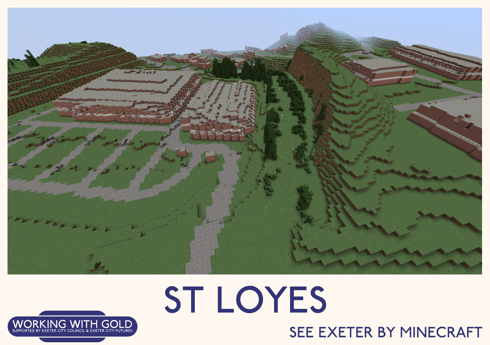 """""""See Exeter by Minecraft"""" Bishop's Court"""