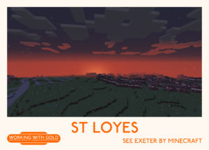 """See Exeter by Minecraft"" Kyrangle sunset"