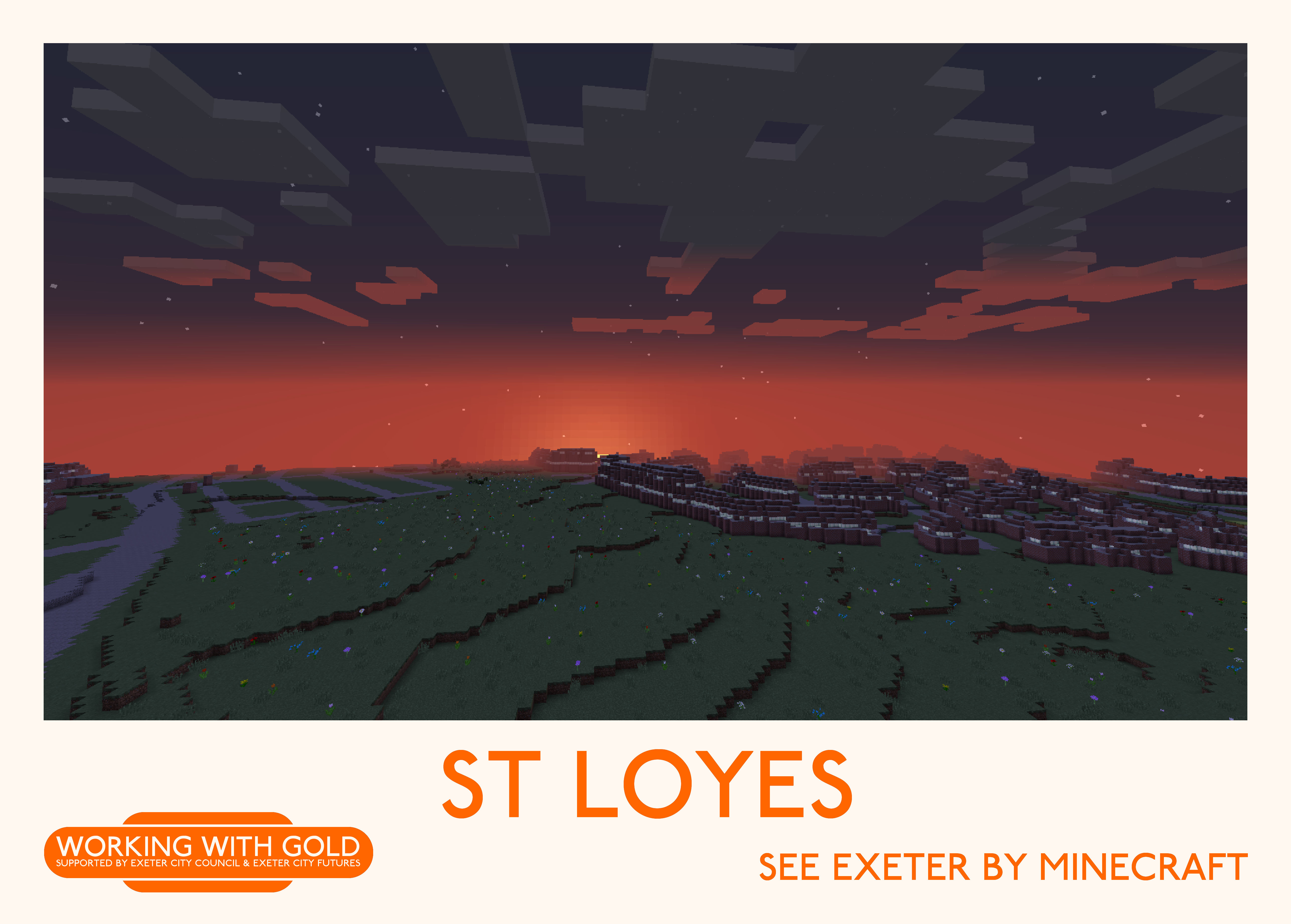 """""""See Exeter by Minecraft"""" Kyrangle sunset"""