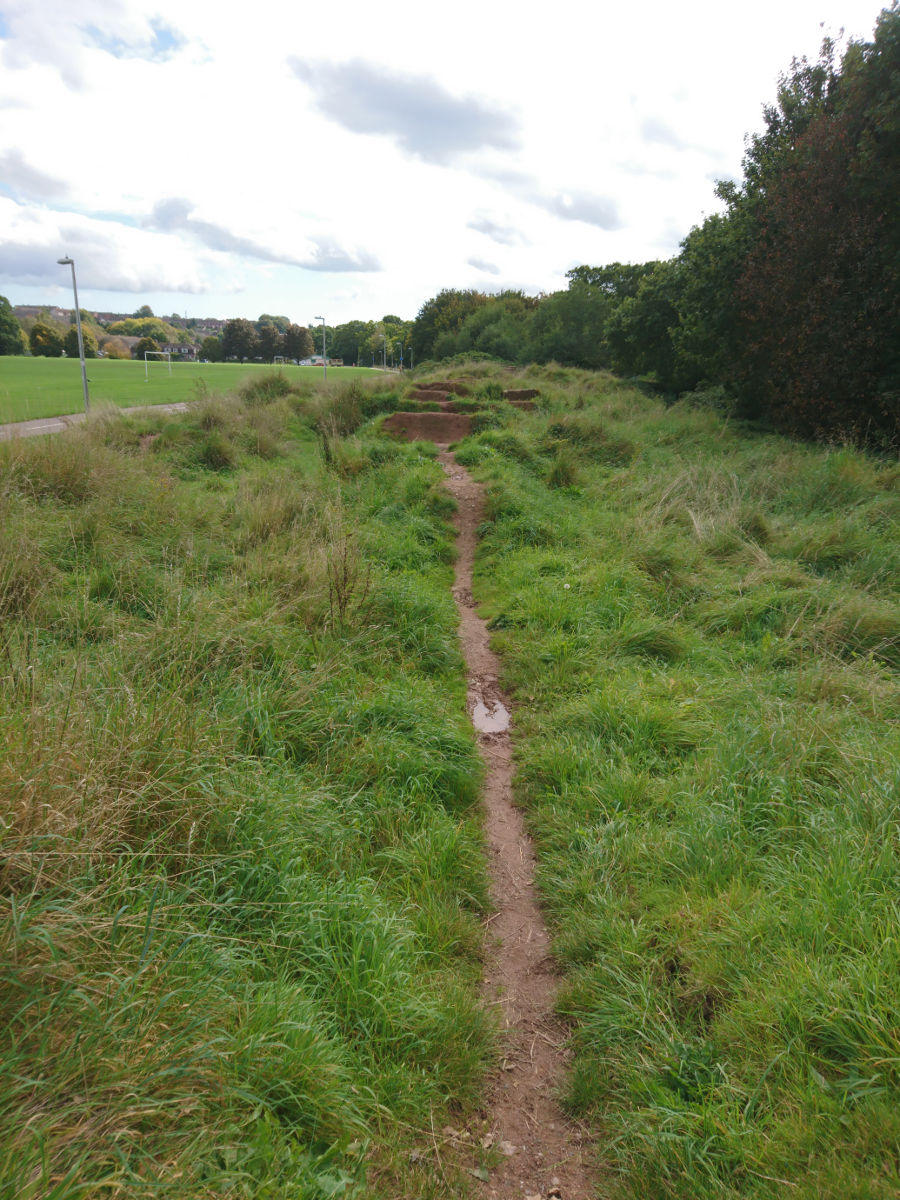 The disused BMX track