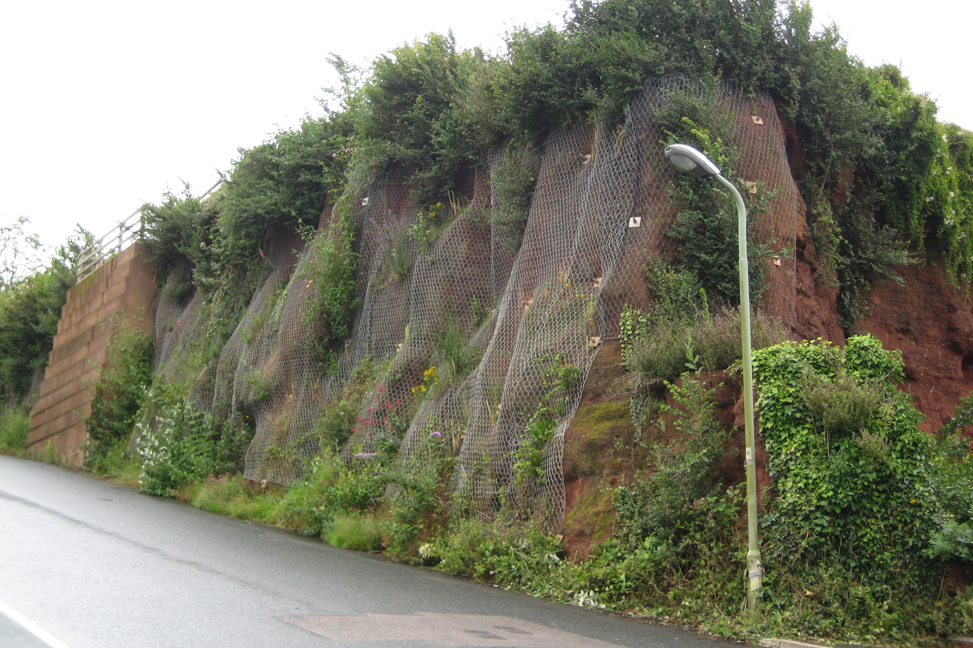 Old Heavitree Quarry face on Quarry Lane