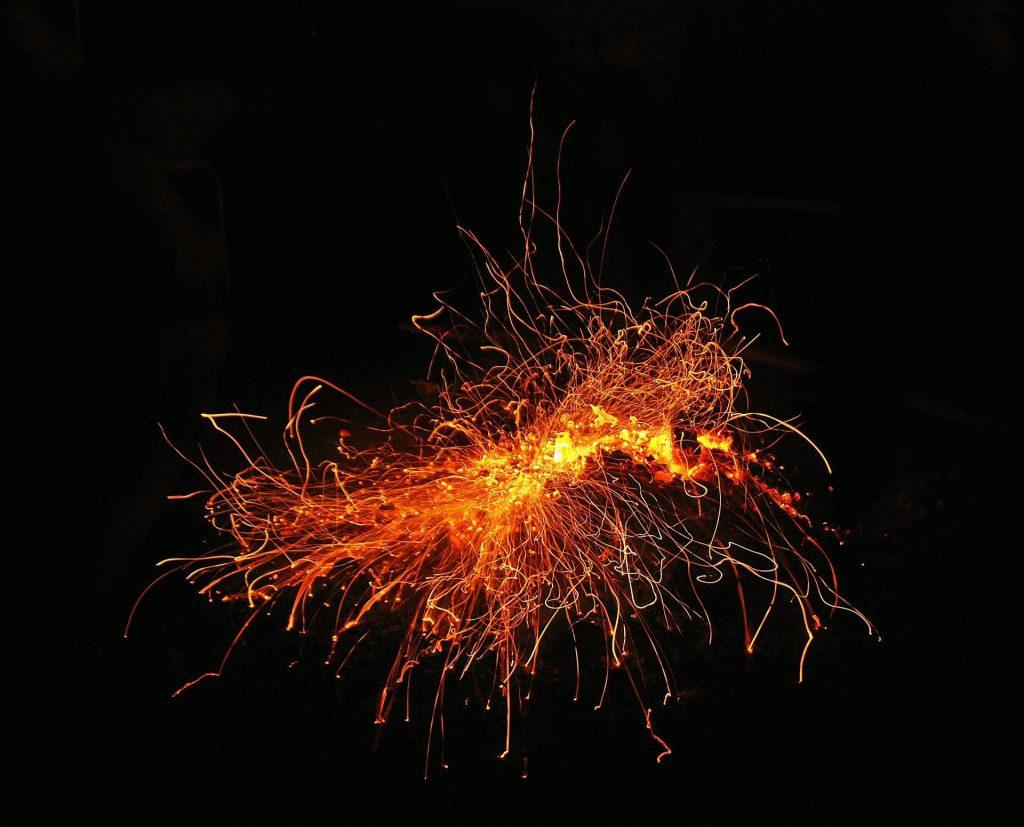 Outbreak of sparks. Photo credit: Jerzy Górecki from Pixabay.