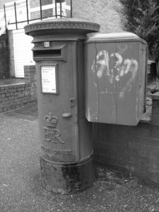 Postbox on Woodwater Lane