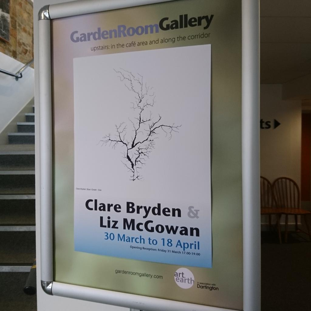 "Poster for ""Green|Blue"" in the Dartington Garden Room Gallery"