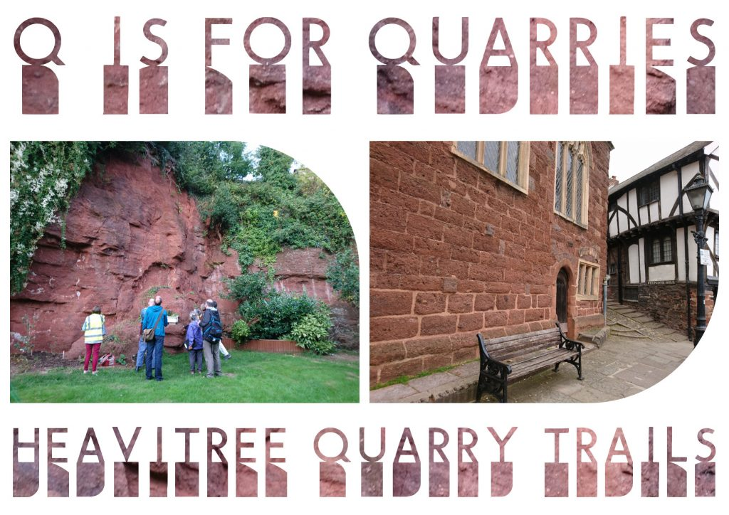 Q is for Quarries postcard - front