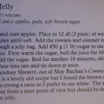 Recipe for rowan jelly