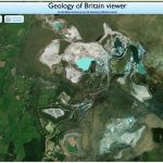 Satellite pic of Sibelco quarries. Source: RGS.
