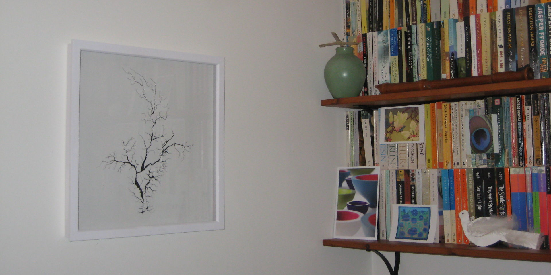 Prints and greetings cards on sale in the shop