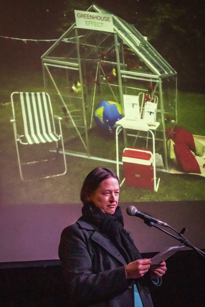 Speaking at Dartmoor Pecha Kucha, 8 November 2018. Credit markburley.co.uk.