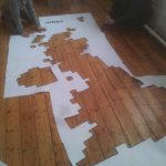 Cutting out the Freefall Climate Graffiti stencils