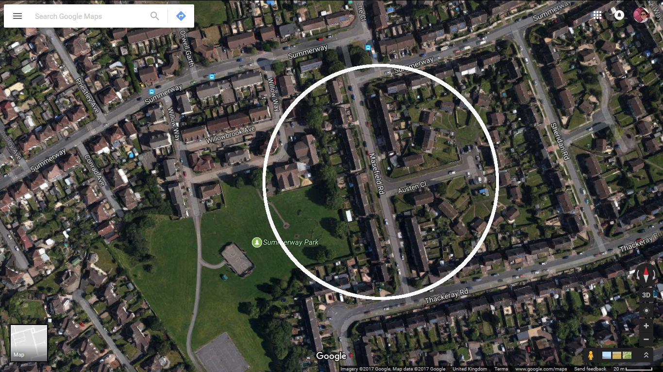 Summerway Park stones circle