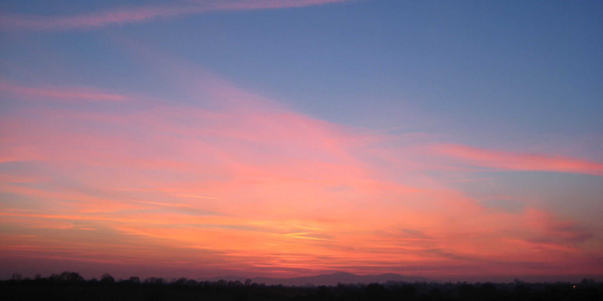 Sunset over the Malverns