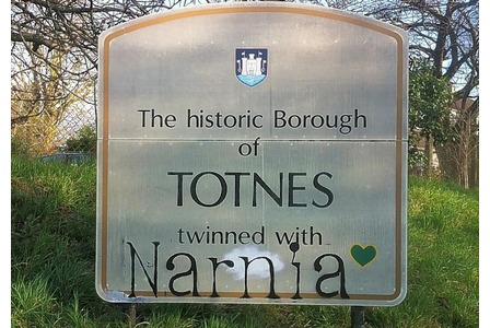 Totnes, twinned with Narnia