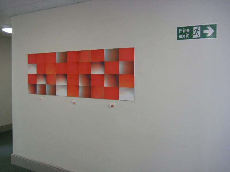 Touch:Triptych in the Exeter Comunity Centre