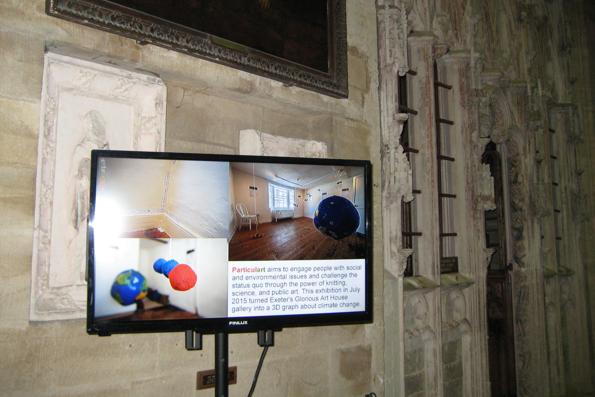 Particulart: Up in the Air video installation, Exeter Cathedral, 30 November to 11 December 2015