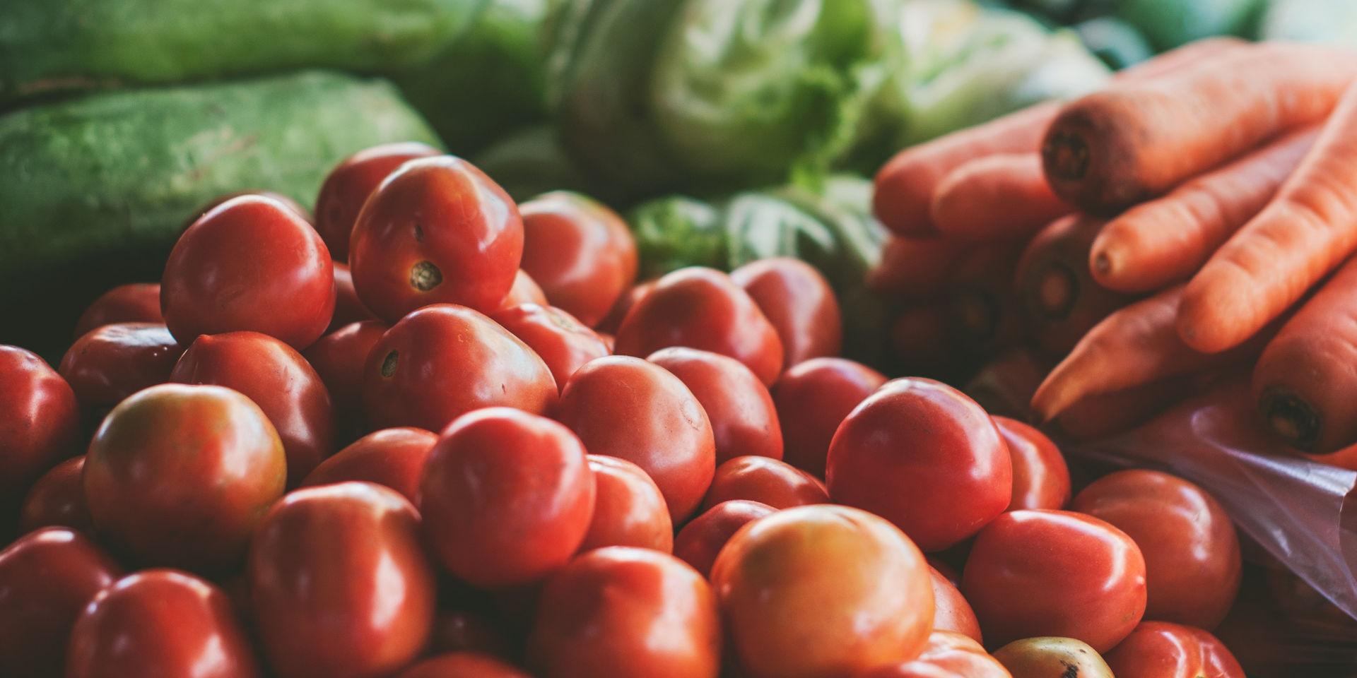 A pile of fresh vegetables. Photo by Sven Scheuermeier on Unsplash.
