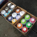 Spray paint ready to go