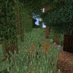 Warwick Road wilderness mock-up in Minecraft