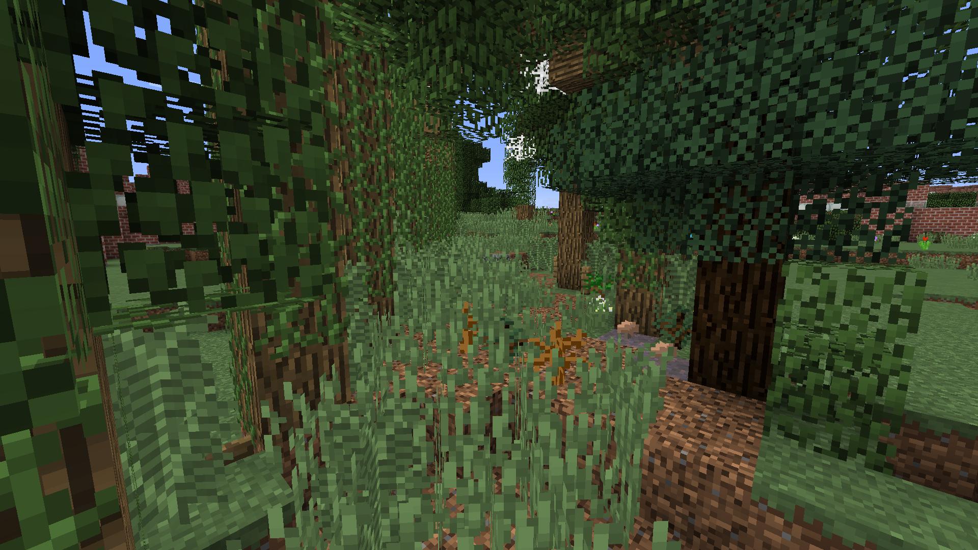 Warwick Road wilderness mock-up in Minecraft