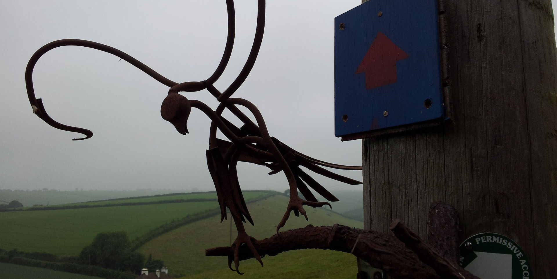 One of the art works about to lift off from West Town Farm