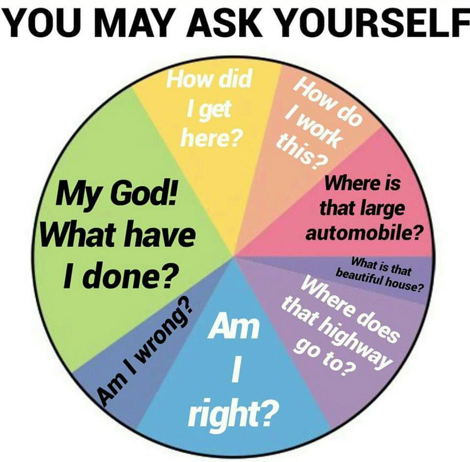You may ask yourself...